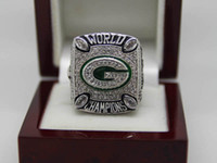 With Side Stones Bezel setting Brass 2010 Green Bay Packer Copper Championship CZ Rings National Football League Cubic Zircon Size 10 11 12 A+