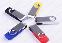 50pcs / lot 32GB 64GB giratorio USB 2.0 Flash Drive con el logotipo de encargo libre para la promoción de exposiciones o regalo