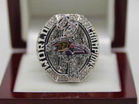 With Side Stones Bezel setting Brass Fans 2012 Baltimore Raven Super Bowl XLVII Copper National Football League Cubic Zircon Championship CZ Ring Size 10 11 12 A+