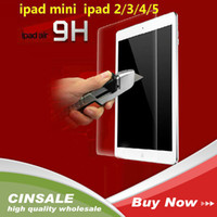 Wholesale 0 mm D H Premium Tempered Glass Screen Protector Protective Film for Ipad Air without Package