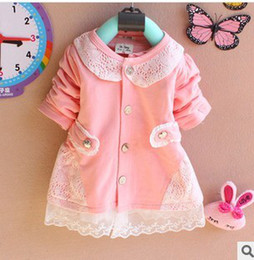 Wholesale autumn of children s wear Korean girl s lace cardigan A150