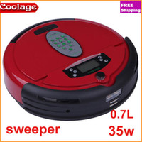 Wholesale DHL new hol sale household appliances Wine red sweeper smart mini automatic robot vacuum cleaner