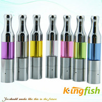 Wholesale Kingfish Electronic Cigarette Atomizer Mini Protank e Cigarette Atomizer ml colorful ego atomizer Metal Drip Tip Tank Clearomizer Hot