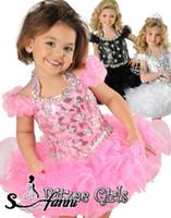 Wholesale 2014 Beautiful Ritzee Girls Halter A line Organza Beads Toddler Pageant Dresses Cupcake Girls Formal Dress