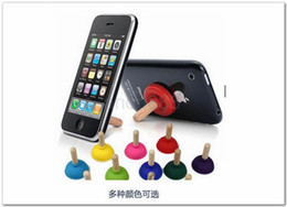 Fedex Free-10 colors Creative iPlunger Plunger Sucker Stand Silicon Stands Mounts and Holders for Mobile Phone Cell Phone iPhone iPod MP3 4