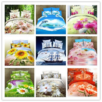 Wholesale Cheap linen quilt Reactive printed d bed linen bedding set cotton King Queen size bedclothes duvet cover