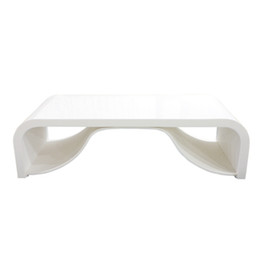 Wholesale Artificial stone acrylic resin solid surface tea table matte finish pure white HT7001