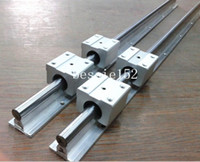 Wholesale 2 X SBR12 mm MM fully SUPPORTED LINEAR RAIL SHAFT SBR12UU LINEAR BEARING
