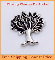 Charms   Free shipping hot selling beautiful tree origami owl floating charms for living glass memory glass lockets FC93