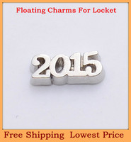Wholesale top sale silver number letter origami owl floating charms for living glass memory glass lockets FC150