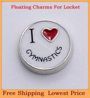 Wholesale new arrival metal I love cymnastics origami owl floating charms for living photo memory glass lockets FC242