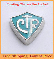 Charms   2014 new arrival zinc alloy silver CTR letter origami owl floating charms for living photo memory glass lockets FC173