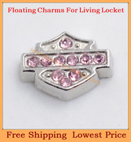 Charms   Free shipping new 2014 pink stone cross origami owl floating charms for living glass memory glass lockets FC271
