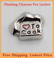 Charms   Free shipping New arrival love to cook letter origami owl floating charms for living glass memory glass lockets FC258