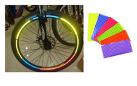 Wholesale Fluorescent MTB Bike Bicycle Sticker Cycling Wheel Rim Reflective Stickers Decal