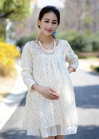 Wholesale New Maternity Large Size Korean fashion lace dress women dress Spring
