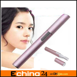 Wholesale Pen shaped Electric Hair Eyebrow Trimmer Micro trim Groomer Cosmetic Facial Care Pink