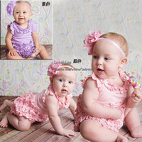 Wholesale Girl Clothes Kid Baby One Piece Romper Hair Accessories Children Clothing Jumpsuit And Rompers One Piece Clothing Girls Rompers Kids Romper