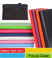 Wholesale Galaxy Tab3 Lite Cases Classical Lichi PU Leather Cover Stand Cases For Samsung Galaxy Tab Lite T110 T111 Tablet PC Bags