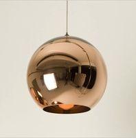 ball lamp shade - Dia cm Copper Shade Mirror Ball Pendant Light Dining room Glass Pendant lamp By Tom Dixon Design