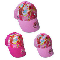 Ball Cap Pink Woman Wholesale -WinxClub Snapback hats brand Chirdren sports baseball caps hiphop cap Free Shipping 50pcs L