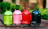 Wholesale Portable USB Android Google Collectible Robot Toy TF Card USB Mini Player Speakers