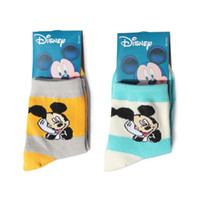 Wholesale Mickey breathable cotton socks two pairs of children random hair