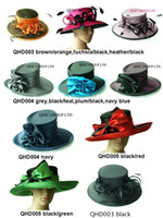Wholesale NEW ARRIVAL ladies Satin dress hat church hat Formal hat in mix style and mix color wedding races