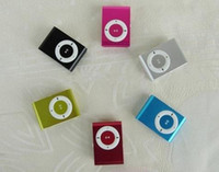 Wholesale Portable Mini Clip MP3 Player Metal Clip MP3 Music Media Player metal body mp3 player support GB GB GB GB micro sd TF card mp3s Players