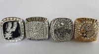 Un conjunto S de los Spurs de Duncan Campeonato de Baloncesto Anillo de Réplicas de tamaño 10 NOS 4pcs mejor regalo para los fans de la colección de Alta Calidad de 1999 2003 2005 2007