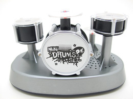 Ensembles de batterie en Ligne-Mini Finger Drum Set Nouveauté Bureau Musical Toy Touch Drumming LED Light Jazz Percussion pour enfants Enfant Instrument pour enfants Bureau d'éducation