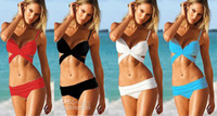 Women's Butterfly Tie Bikini Set Ruffled Swimwear Padded Str...