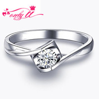 certified diamond ring - Luxury Quality CT Real Diamond K White Gold Ring Certified Natural Diamond Ring Wedding Ring For Women Engagement ring