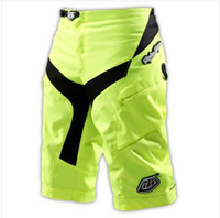 Wholesale 8017 High Quality With Pad Troy Lee Designs TLD Moto Shorts Bicycle Cycling MTB BMX DOWNHILL Offroad Short PantS fluo yellow