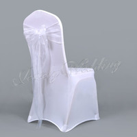 Wholesale Top Quality white Organza Chair Sash For Wedding Event amp Party Decoration