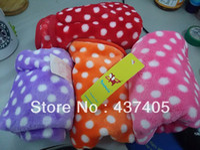 Wholesale Winter Warm Pet Dog Puppy Cat Dot Mat Soft Fleece Blanket Quilt Cushion Pad Cozy Cover Bed