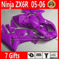 Comression Mold For Kawasaki Ninja ZX-6R Customize fairing kit for ZX-6R 2005 2006 Kawasaki Ninja 636 ZX 6R matte purple fairings ZX636 05 06 ZX6R motobike parts 7 Free Gifts TQ24