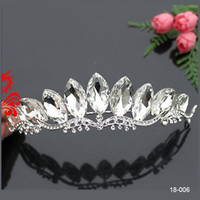 Wholesale In Stock Best Selling Alloy Crowns Crystals Prom Women Girls Wedding Bride Tiaras Hair Bridal Accessories Christmas
