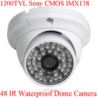 CMOS Indoor 48 LED HD CCTV 1200TVL Sony CMOS IMX138 Sensor 48 IR Outdoor Security Dome Camera With IR-Cut OSD Control