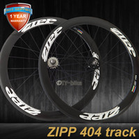Wholesale ZIPP mm carbon track bike wheels fixed gear fixie bicycle wheelset