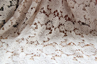 Wholesale Day One garment cotton embroidered flowers screens beige lace hand soluble gauze cloth fabric diy