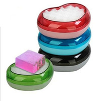 Wholesale Creative crystal heart shaped soap dish soap dish soap dish soap box special hotel toiletries home