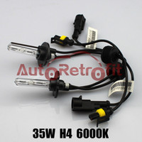Bulb H4 6000K 35W H4 6000K HID Xenon Replacement Bulbs for Aftermarket G3 HID Bi-xenon Projector Lens