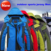 Wholesale Outdoor Sports Jacket Clothing Genuine Waterproof Windproof Climbers jersey men wear and casual wear Large clothes Large size increase XL
