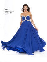 Reference Images Sweetheart Chiffon 2014 Blue Classic Wow Prom Dresses Sweetheart Beads Sequin A-Line Plus Size Backless Chiffon Bridesmaid Dress Formal Dress Gowns for Evening