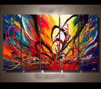 Wholesale abstract oil painting hand painted canvas painting modern art painting set