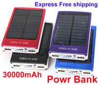 Wholesale New External Battery Pack mAh Mobile Power Bank Solar Charger Portable High Quality Express