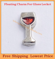 Charms   Free shipping 2014 new cute Silver Goblet origami owl floating charms for living magnetic memory glass lockets FC302