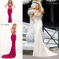 Prom dresses mermaid pageant gowns high neck sheer illusion neck