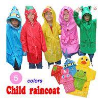 Wholesale 2pcs Impermeable child Raincoat kinds modelling Animal Raincoat